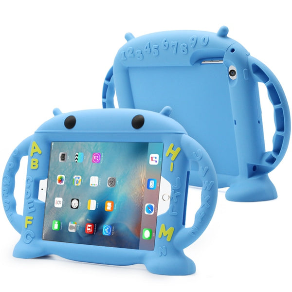 Apple ipad 2 3 4 Case 9.7inch Silicone Case Kids Protective Back Cover With Hand Holder - Casebuddy