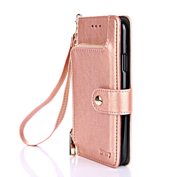 Flip Wallet Leather Case Samsung Galaxy S10 S9 S8 Plus S7 S6 Edge S5 Note 9 8 5 M20 M10 Cover - Casebuddy