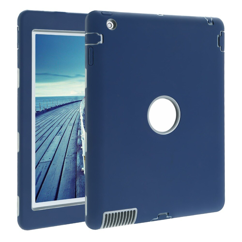 iPad 2 3 4 Retina Kids Safe Armor Shockproof Heavy Duty Silicone Hard Case Cover Protective