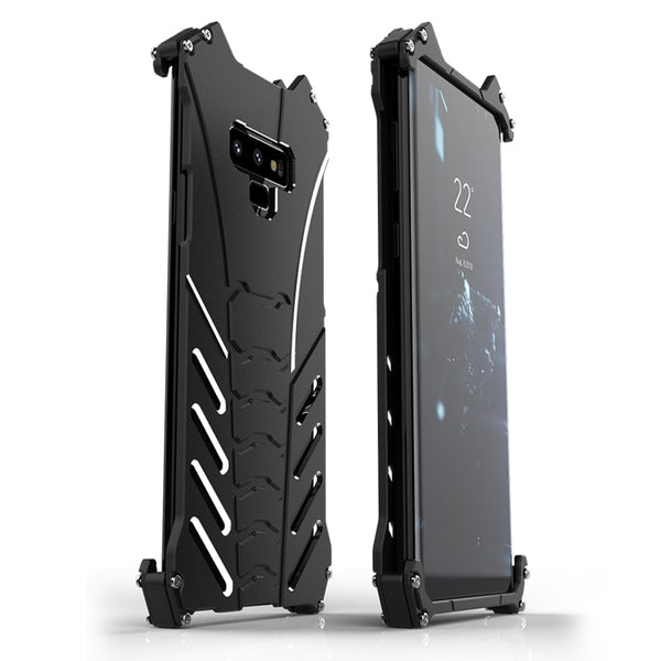 R-JUST Batman Armor Rugged Shockproof Kickstand Metal Aluminum Case for Samsung Galaxy Note 8 9 S10 S10 Plus S10e - Casebuddy