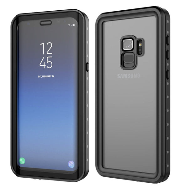 Waterproof Case Samsung Galaxy Note 9 8 S7 edge S8 S9 S10 Plus Shockproof Transparent Cover - Casebuddy