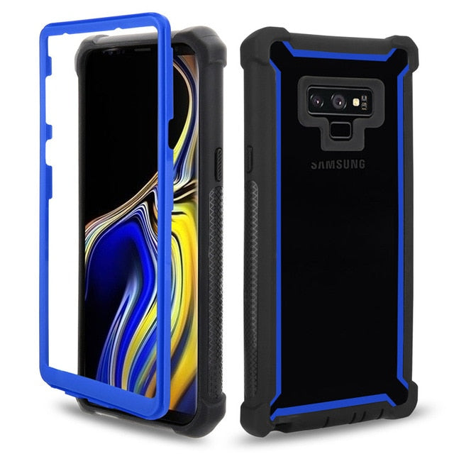 Heavy Duty Protection Doom Armor PC TPU Case Samsung Galaxy S8 S9 S10 Plus Note 8 9 S10e Shockproof Dustproof Cover