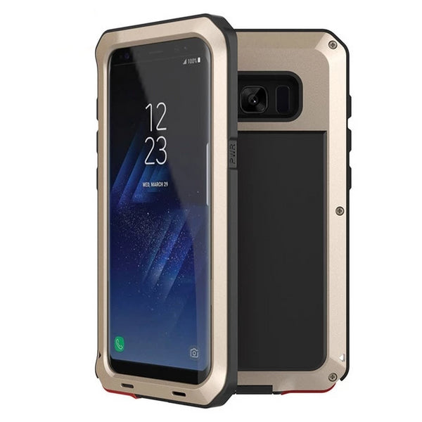 Luxury Armor Metal Heavy Duty Case Samsung Galaxy S5 S6 S7 Note 9 4 5 8 Edge S8 S9 S10 Plus S10e Shockproof Cover