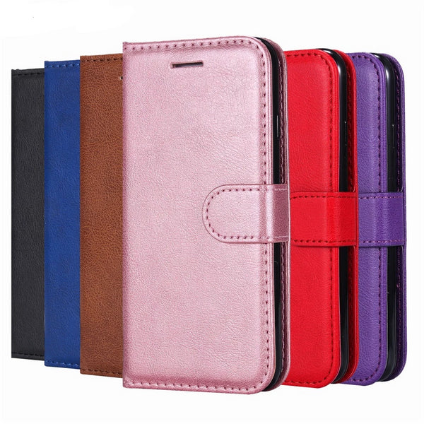 Luxury PU Leather Wallet Case For iPhone X XS MAX XR 6 6S 7 8 Plus 5 5S SE Flip Cover Card Slot Stand - Casebuddy