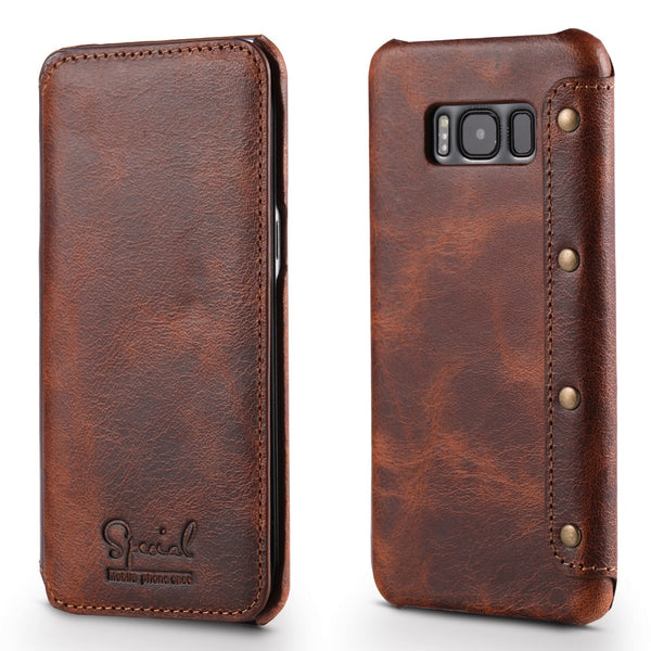 Real Leather amsung S10Plus Case Flip Cover for Samsung Galaxy S8 S9 S10e S10 Plus Note 9 Funda - Casebuddy