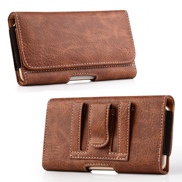 Universal Leather Case Belt Clip Carrying Waist Bag Samsung Galaxy Note 8 S8 S9 S10 Plus S10e A7 A8 - Casebuddy