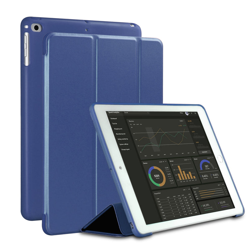 New iPad 9.7 inch 2017 2018 Air 1 Air 2  Pro 9.7  Funda Soft silicone bottom Back PU Leather Smart Cover Auto Sleep - Casebuddy