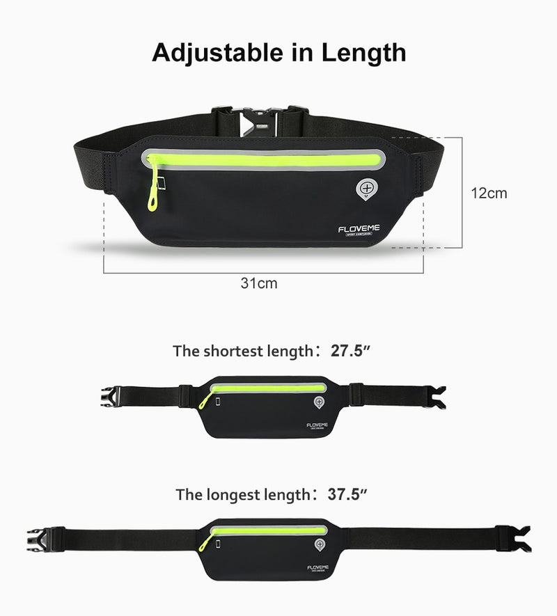 FLOVEME 6.5 inch Running  Bag Jogging Belt Cycling Waist Belly Bumbag Waistbag Wallet Pack Gym Sport For iPhone - Casebuddy