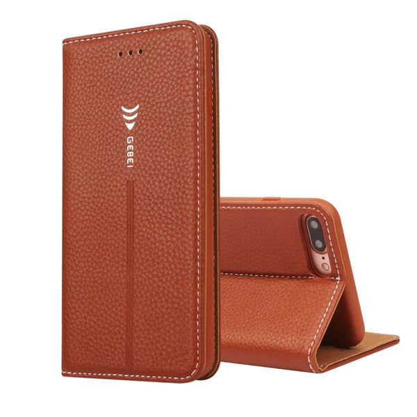 GEBEI Luxury Wallet Leather Unique Magnetc Flip Stand Case Cover iPhone XS Max XR X 5 5S SE 6 6S 7 8 Plus - Casebuddy
