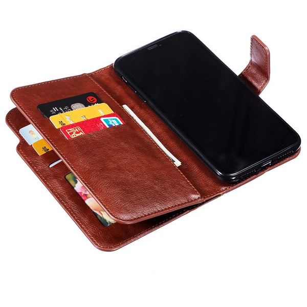 Retro Wallet Flip Card Slot Stand Luxury Leather Case For iPhone X XR XS MAX 5 6 6s 7 8 Plus 5s SE Plus Cover - Casebuddy