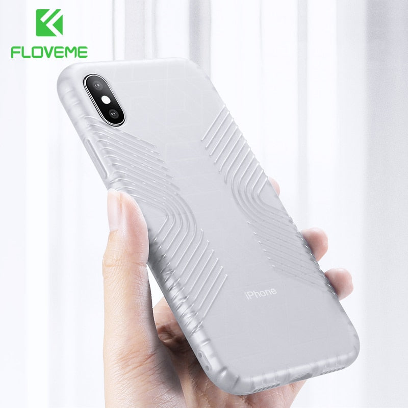 FLOVEME Shockproof Case iPhone 7 8 8s 6 6s Plus X Xr Xs Max Soft TPU Cover Clear Back - Casebuddy