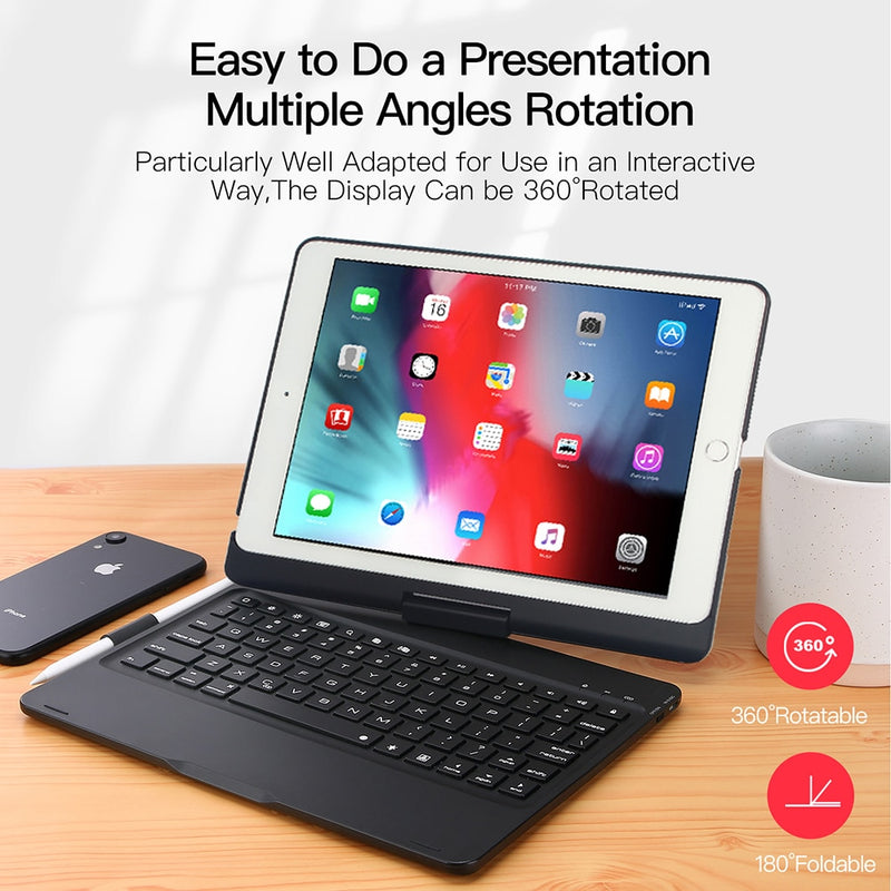 DUX DUCIS Wireless Keyboard Bluetooth Smart Folding Tablet Cover for iPad Air 3 2019 Pro 10.5 inch 2017 - Casebuddy