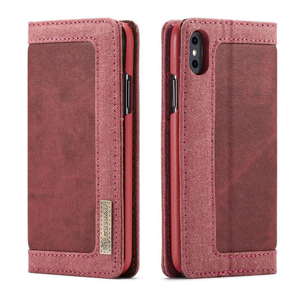 CaseMe Wallet Demin Business Leather Case for iPhone XS Max  X XR 8 7 6 6S Plus 5 5S SE Magnetic Flip - Casebuddy