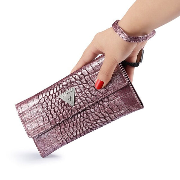 WHATIF Luxury Crocodile Leather Wallet Pouch Bag Case For iPhone X XR XS Max 8 7 6 6S Plus 5 5S 5SE 4G - Casebuddy