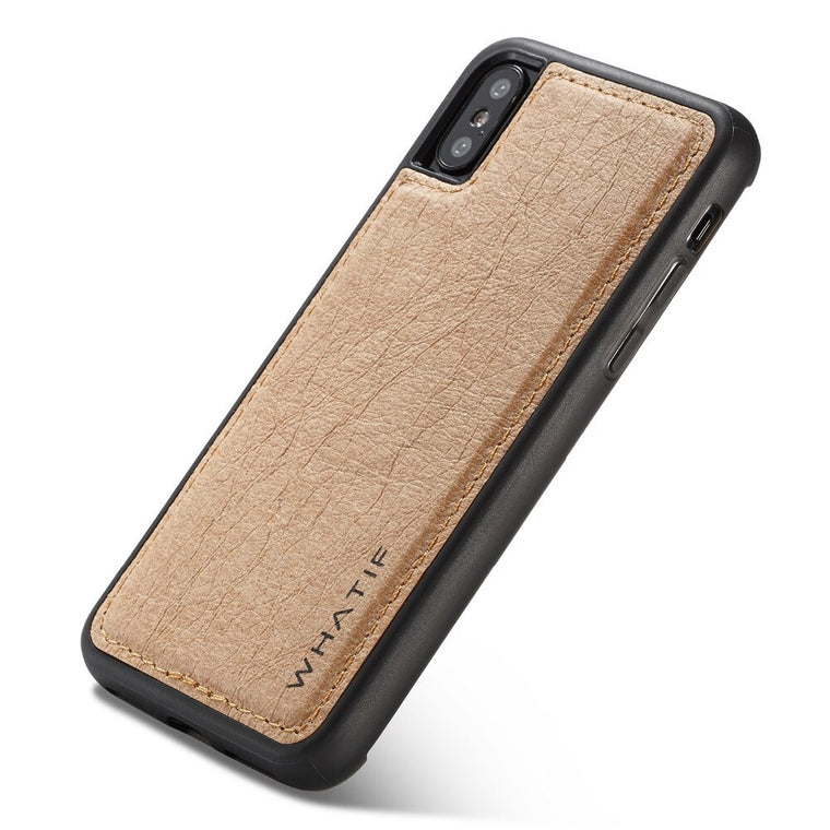 WHATIF DIY Unique Detachable Waterproof Leather Case iPhone X XR XS Max 6 6S 7 8S 8 plus Card Holder