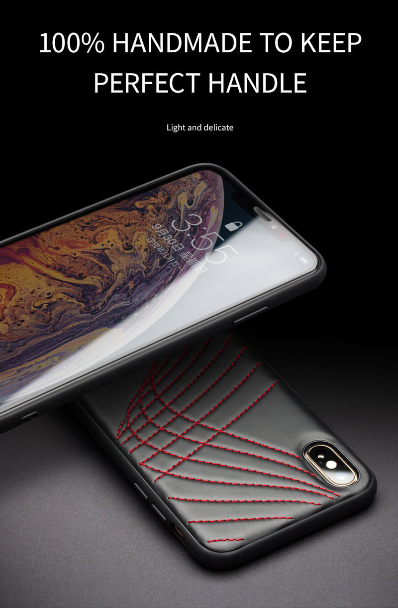 QIALINO Genuine Leather Back Luxury Ultra Slim with Unique Curve Cover for iPhone X XR XS Max - Casebuddy
