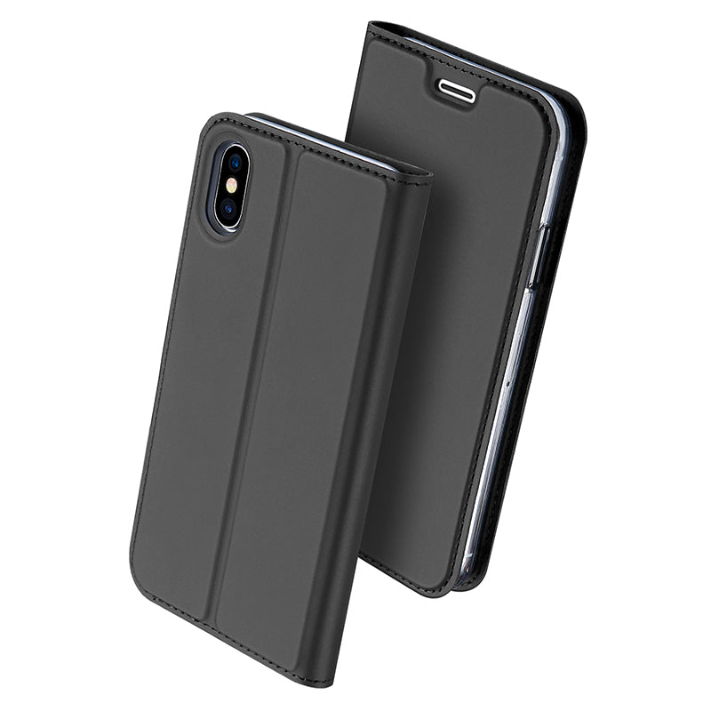 "DUX DUCIS PU Leather Case iPhone Xs X Luxury Flip Wallet Cover for iPhone X Xs 5.8"" Super Slim - Casebuddy"
