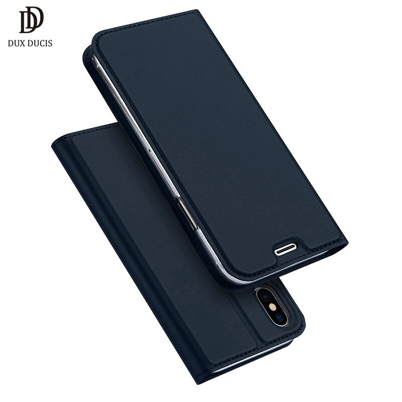 DUX DUCIS Luxury PU Leather Wallet Case for iPhone X Xr Xs Max 8 7 6 6S Plus Stand Flip Capinha - Casebuddy