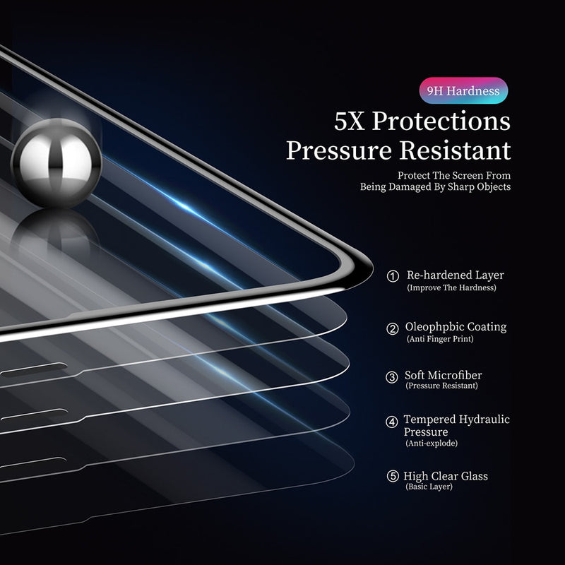 DUX DUCIS Tempered Glass 3D Full Cover Screen Protector Glass for iPhone XR Xs Max X Protective Film - Casebuddy
