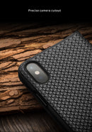 QIALINO Fashion Genuine Leather Handmade Flip Cover for iPhone 7 8 plus Luxury Ultra Slim Flip Case - Casebuddy