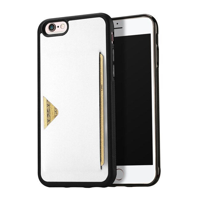 DUX DUCIS PU Leather Card Case iPhone 6 6s 7 8 8S Plus Wallet Credit Slots Shockproof - Casebuddy