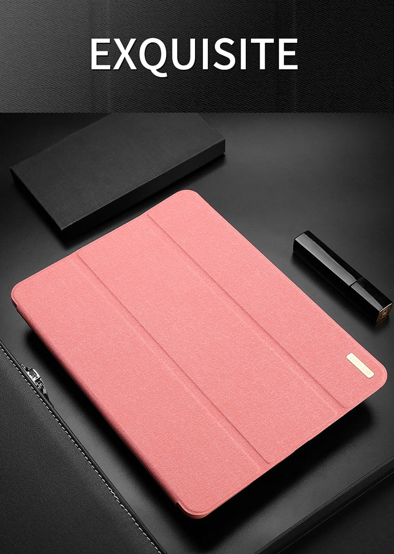 DUX DUCIS PU Leather iPad Pro 12.9 2016 Stand Magnetic Smart Cover With Pencil Holder - Casebuddy