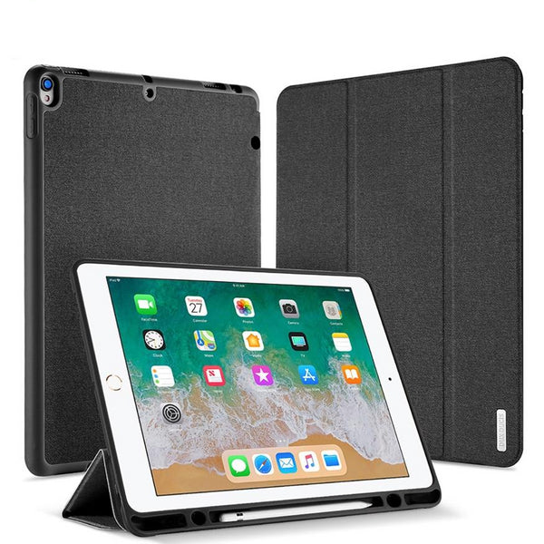 DUX DUCIS Leather Flip Case iPad Pro 12.9 2017 Luxury Stand Smart Cover with Pencil Holder - Casebuddy