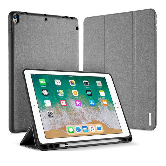 DUX DUCIS Smart Case iPad Air 3 2019 Leather Flip Cover with Pencil Holder Super Slim - Casebuddy