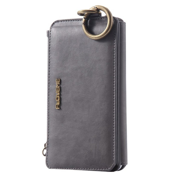 FLOVEME Wallet Detachable Clip Case iPhone 8 7 6 6s Plus 5 5s SE X XR XS MAX Luxury Retro Leather - Casebuddy