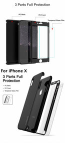 FLOVEME Matt 360 Full Protective Case iPhone 7 8 Plus X XR XS Max 6S 6 5S SE With Front Screen Glass - Casebuddy