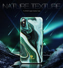 FLOVEME Luxury Marble Silicone Phone Case iPhone 7 8 Plus X Chic Soft Cover Agate - Casebuddy