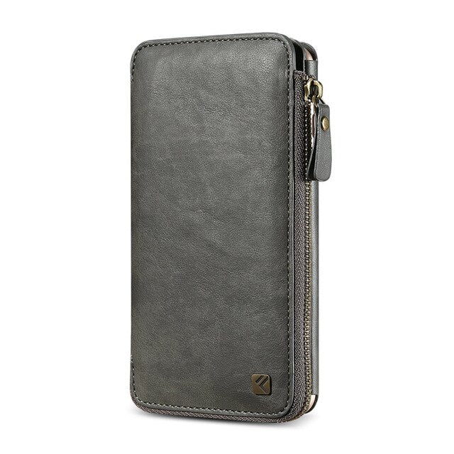 FLOVEME PU Leather Wallet Zipper Pouch For iPhone 6S 6 Plus 7 8 8S Plus Handbag - Casebuddy