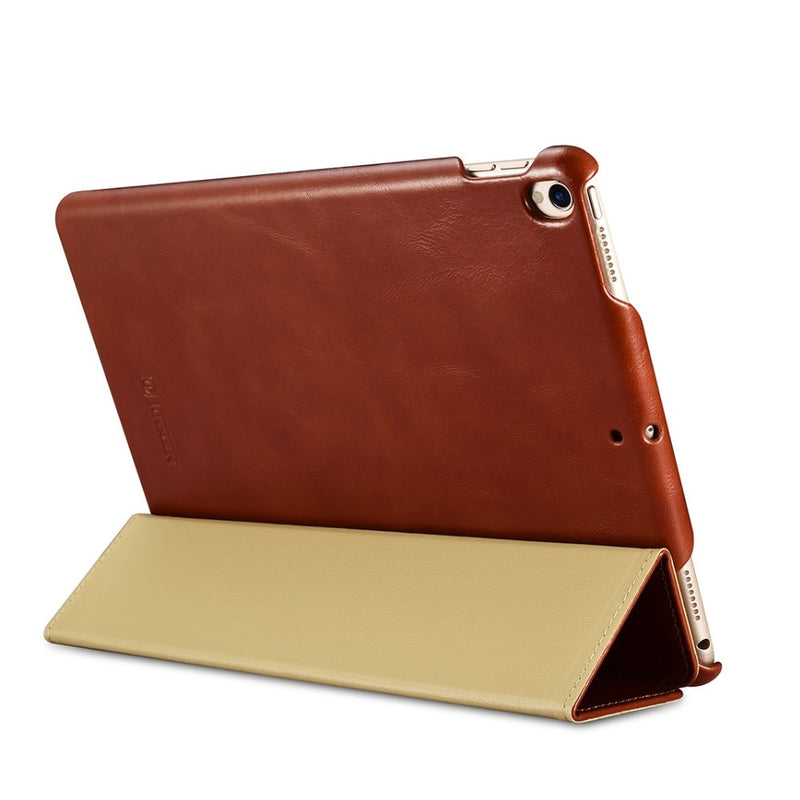 "iCarer Old School Genuine Leather Case For iPad Pro 10.5"" Retro Leather Flip Cover High Quality Business - Casebuddy"