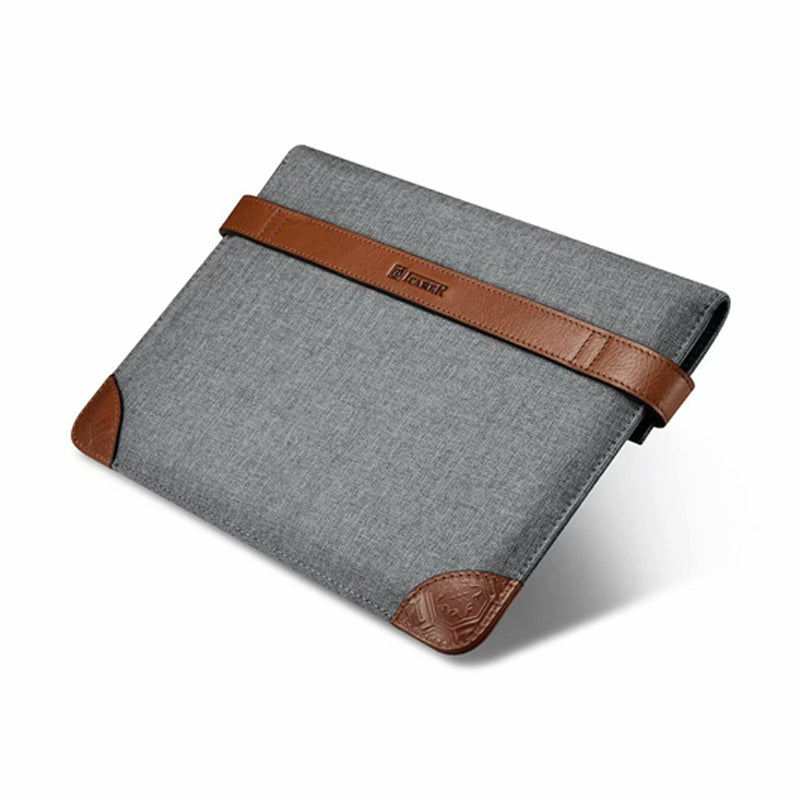 iCarer IPad 9.7 2018 Pro 9.7 10.5 Air 2 Air 1  Air 3 iPad Pro 12.9 Sleeve Bag Canvas Cowhide Leather Handbag - Casebuddy