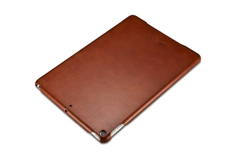 "iCarer Genuine Leather Flip Case iPad Air 3 10.5"" 2019 Business Vintage Leather Flip Tri-fold Stand Cover - Casebuddy"