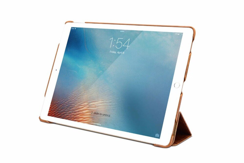 "iCarer Genuine Leather Case For iPad pro 12.9"" 2016 Retro Flip Magnetic Stand Business Slim - Casebuddy"