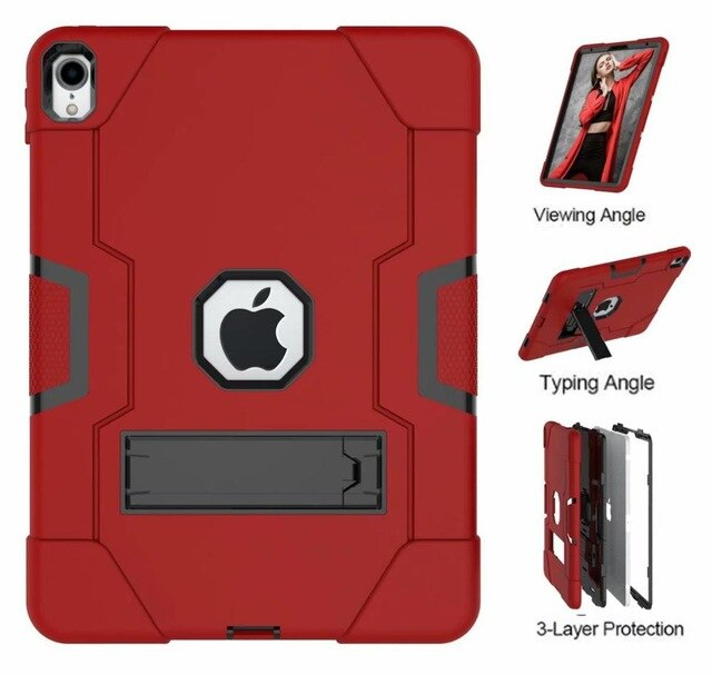 "Armor Silicone Case iPad Air 3 10.5"" New Kids Safe Heavy Duty Hard Anti Shock Cover Super Slim Combo 3 in 1 - Casebuddy"