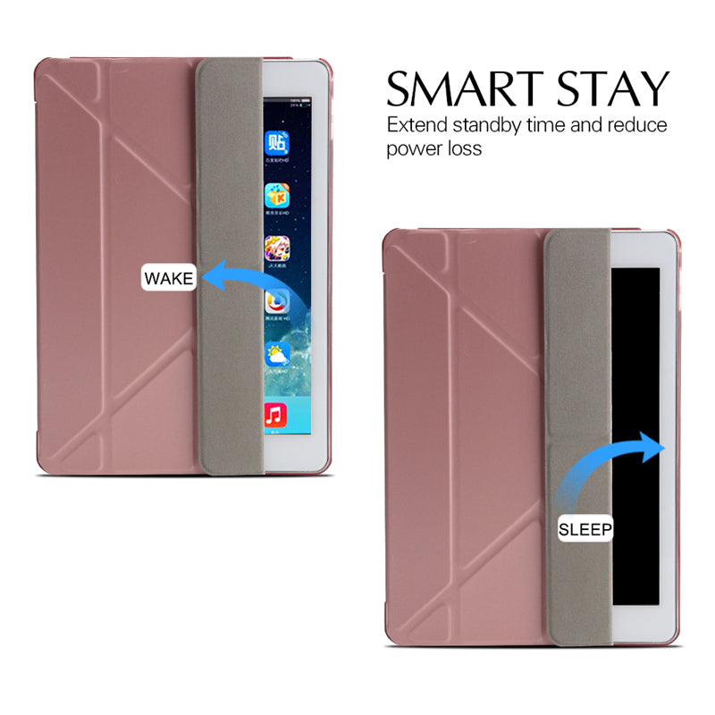 Apple iPad Air 3 Cover Multi-fold Stand PU Leather Smart Case Hard Back Pack With Stander Holder - Casebuddy