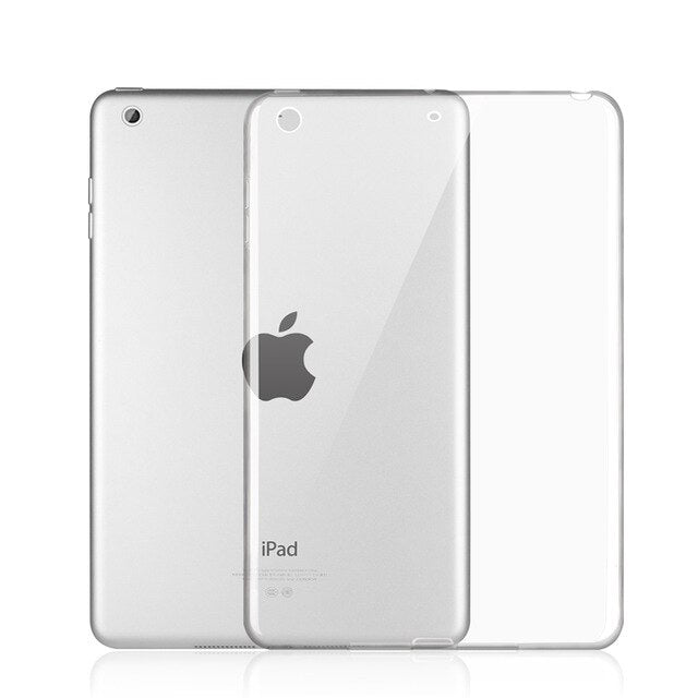 iPad Mini 5 2019 Case TPU Clear Transparent Silicone Rubber Gradient Soft Cover - Casebuddy
