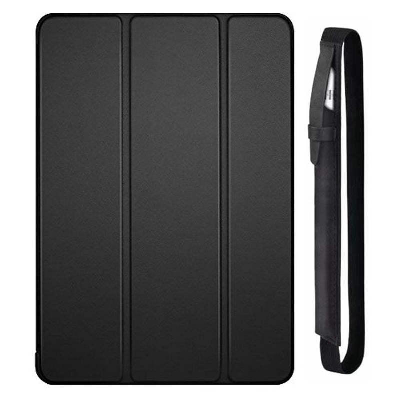 2019 A2133 iPad Mini 5th Generation Case Tri-fold Stand Soft Back Smart Cover Auto Sleep/Wake + Pencil Case - Casebuddy