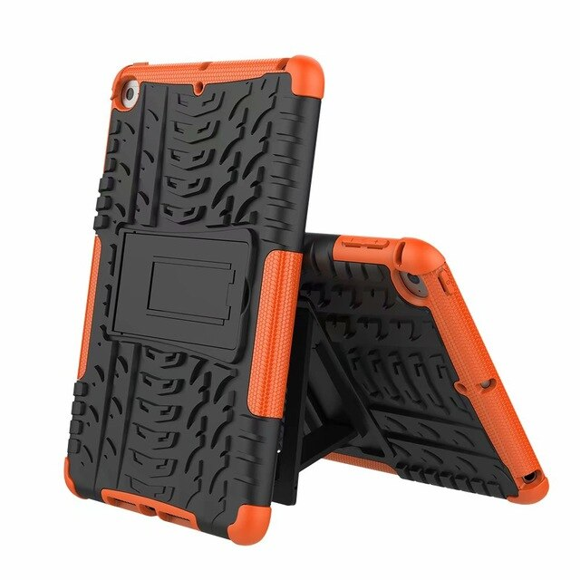 iPad Mini 5 2019 Cover Dazzle Slim Tire Pattern Hybrid 2 in 1 PC TPU Rugged Armor Shockproof case - Casebuddy