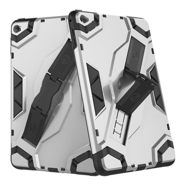 Shockproof Armor TPU+PC Portable Hand Strap Stand Cover Apple iPad Mini 5 2019 Mini 4 Slim Hummer Cover - Casebuddy
