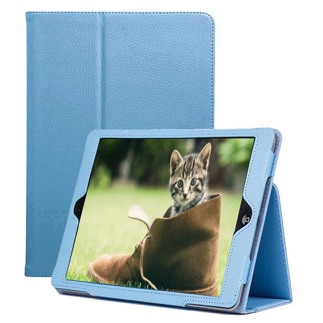iPad Mini 4 5 7.9 inch Book Case Slim Thin Magnetic Litchi Leather Folio Cover Auto-Wake/Off Stand - Casebuddy