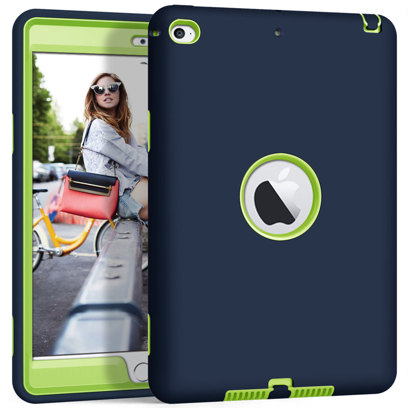 "iPad Mini 4 iPad Mini 5 7.9"" 2019 Case High-Impact Shockproof 3 Layers Soft Silicone Hard PC Cover - Casebuddy"