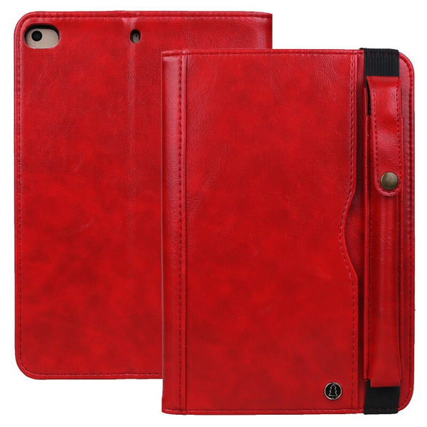 Apple iPad Mini 5 Leather Case With Pencil Holder Vintage Flip Business Stand Wallet Card Smart Cover iPad Mini 1 2 3 4 - Casebuddy