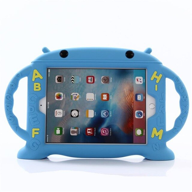 iPad Mini 5 A2133 A2124 A2126 A2125 Cute Cartoon EVA Foam Shockproof Hand-held Stand Kids Back Cover Case - Casebuddy