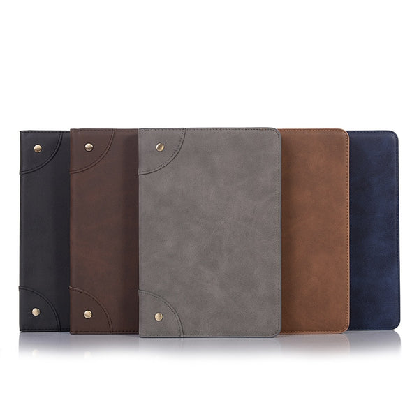 iPad Mini 5 2019 Leather Case Stand With Card Slots Protective Cover Wallet Flip Stand - Casebuddy
