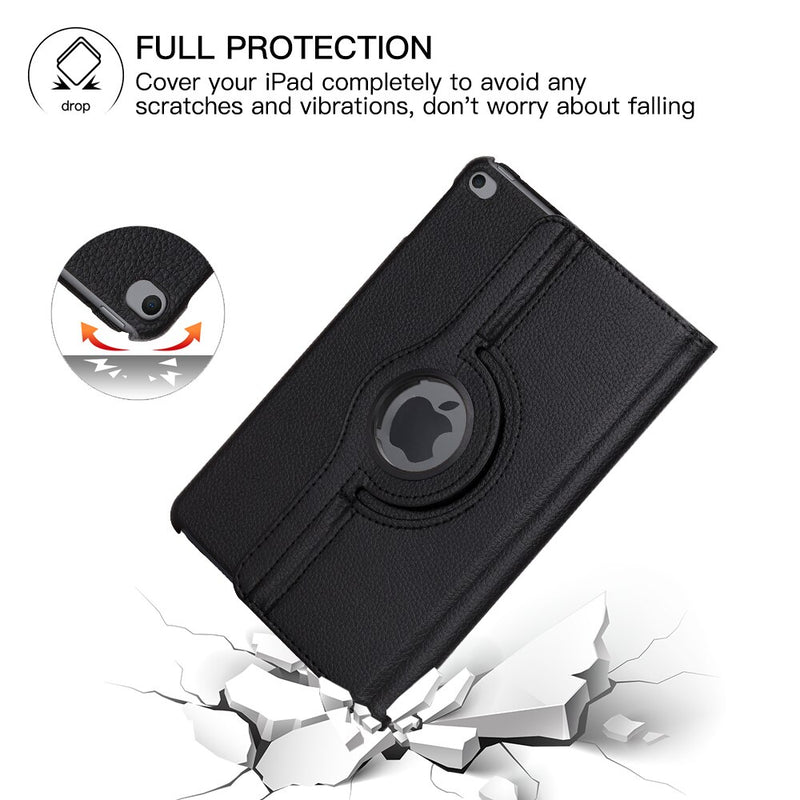 360 Degree Rotating Leather Flip Case Apple iPad mini 5 2019 Mini 4 Stand Auto Sleep Smart Cover - Casebuddy