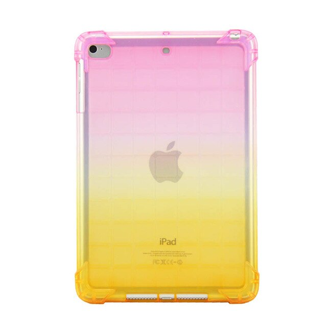 AirBag Super Protection iPad Mini 5 Case 2019 Clear Soft TPU Silicone Gradient Transparent Cover - Casebuddy