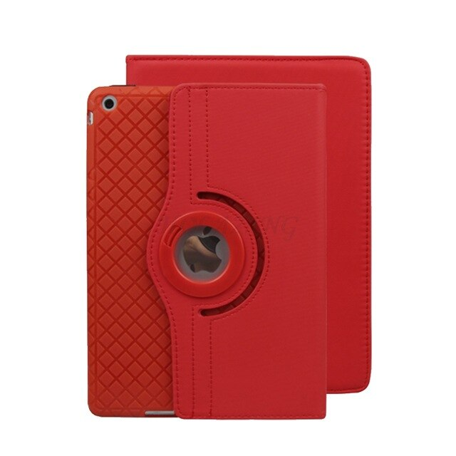 360 Rotation Premium Grid Leather Soft Silicone Inner Case iPad Mini 5 Stand Cover Fashion Top Selling - Casebuddy